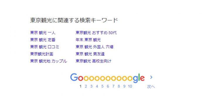 Google関連キーワードの削除(非表示)について