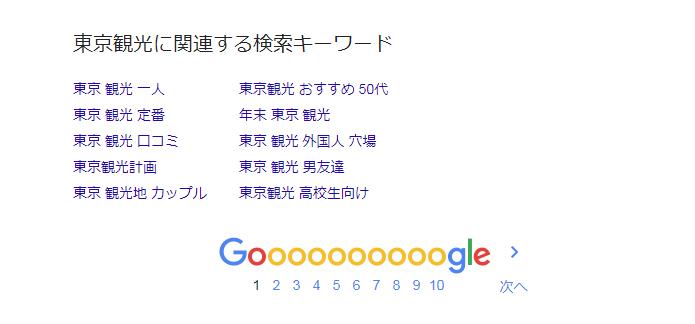 Google関連キーワードPC(パソコン)「東京観光」