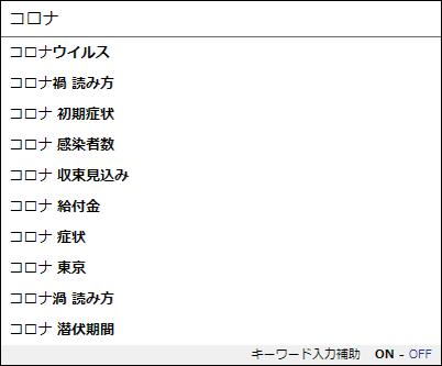Yahoo! JAPAN入力補助機能(サジェスト)20200427「コロナ」表示キーワード.png